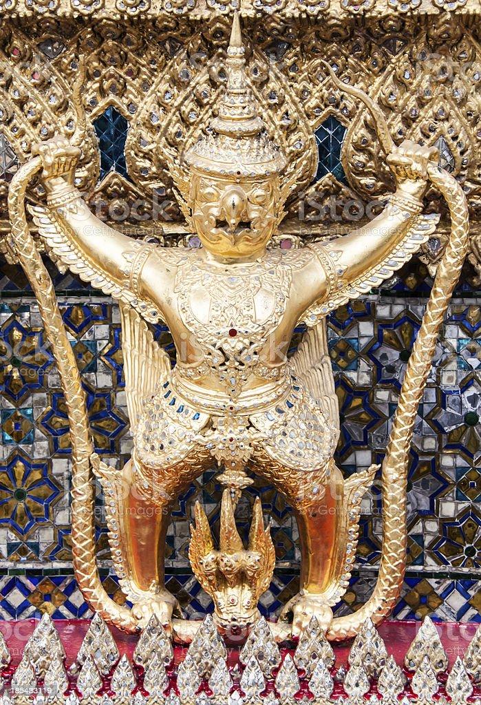 Garuda at the Emerald Buddha Temple royalty-free stock photo