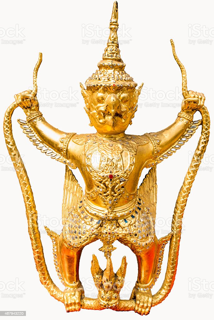 Garuda  for Temple of the Emerald Buddha in Thailand stock photo