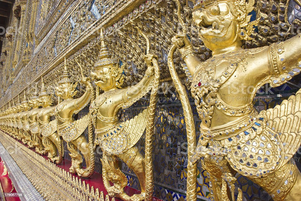 Garuda in Wat Phra Kaew Grand Palace of Thailand royalty-free stock photo