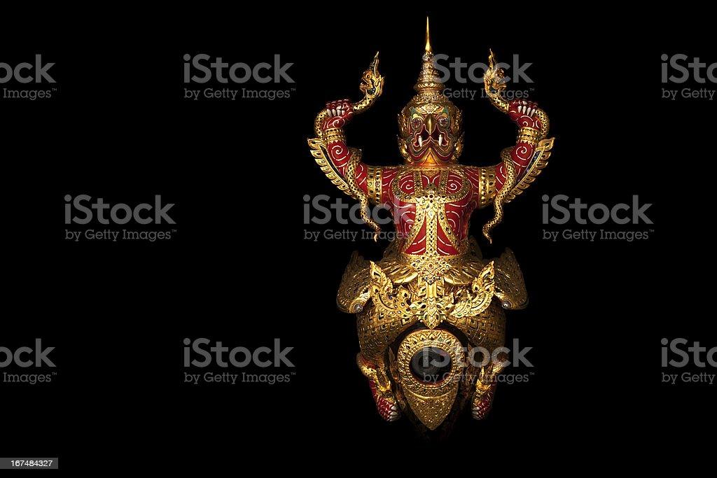Garuda isolated royalty-free stock photo