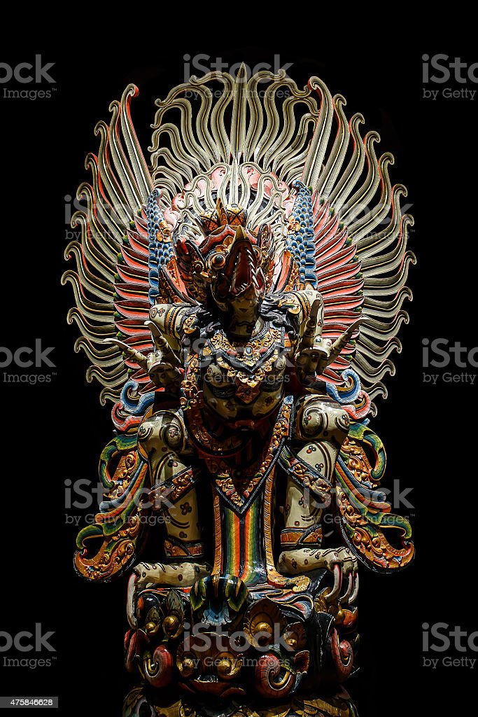 Garuda statue of the Hindu. stock photo