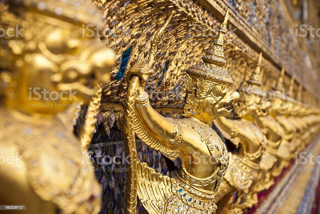 Garuda Statues Close Up From Bangkok, Thailand stock photo