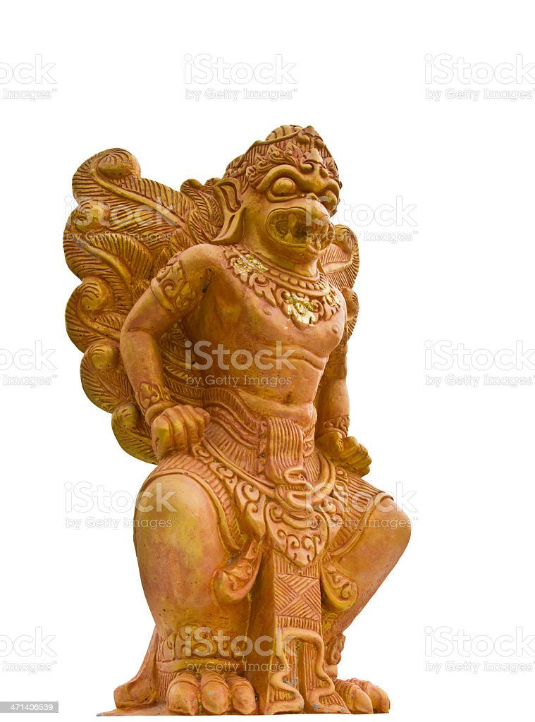 Garuda statues Phraya white background. royalty-free stock photo
