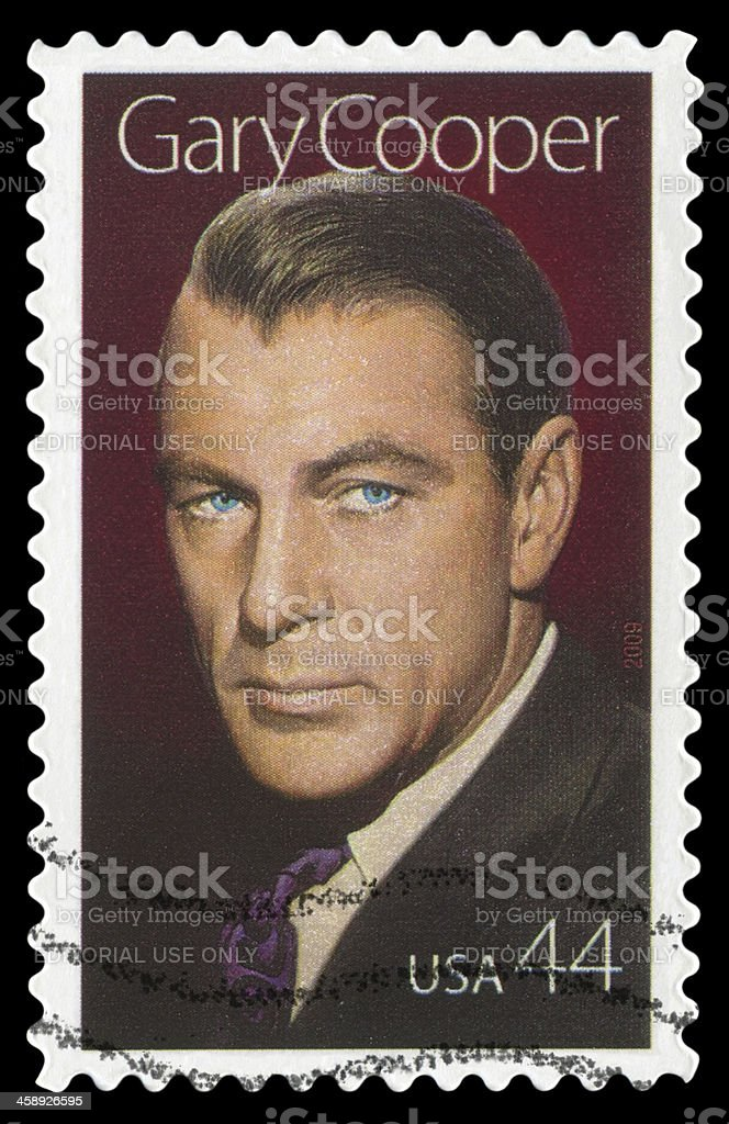 Gary Cooper royalty-free stock photo