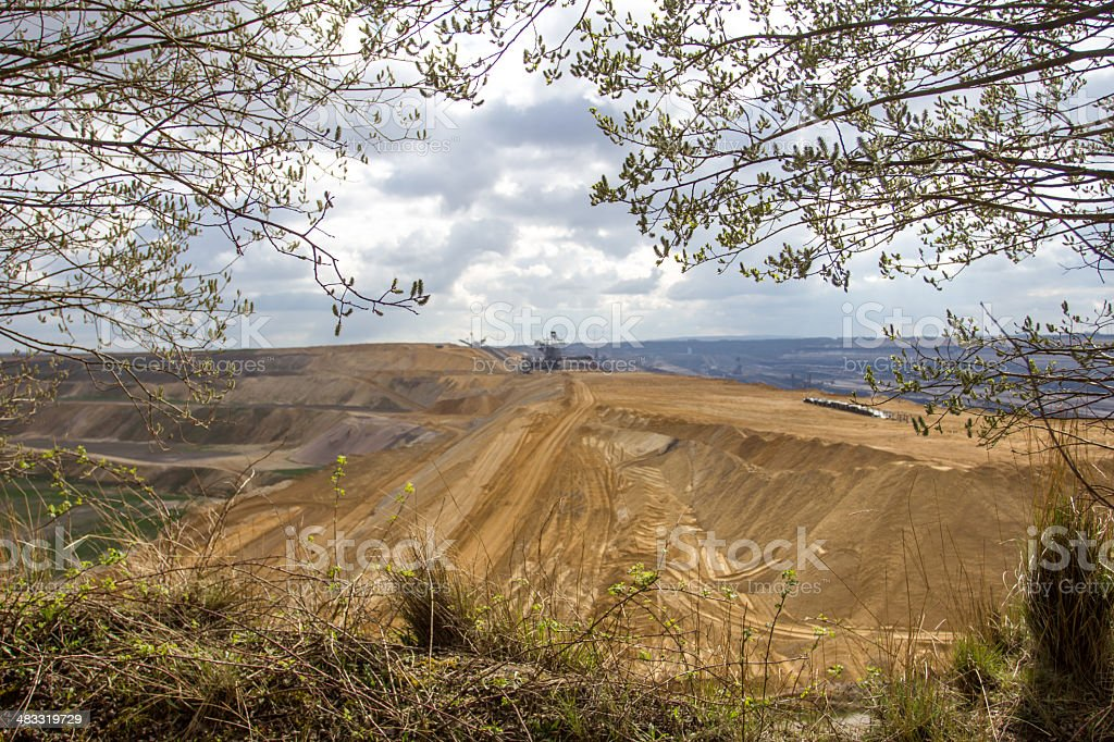 garzweiler brown coal surface mining germany stock photo