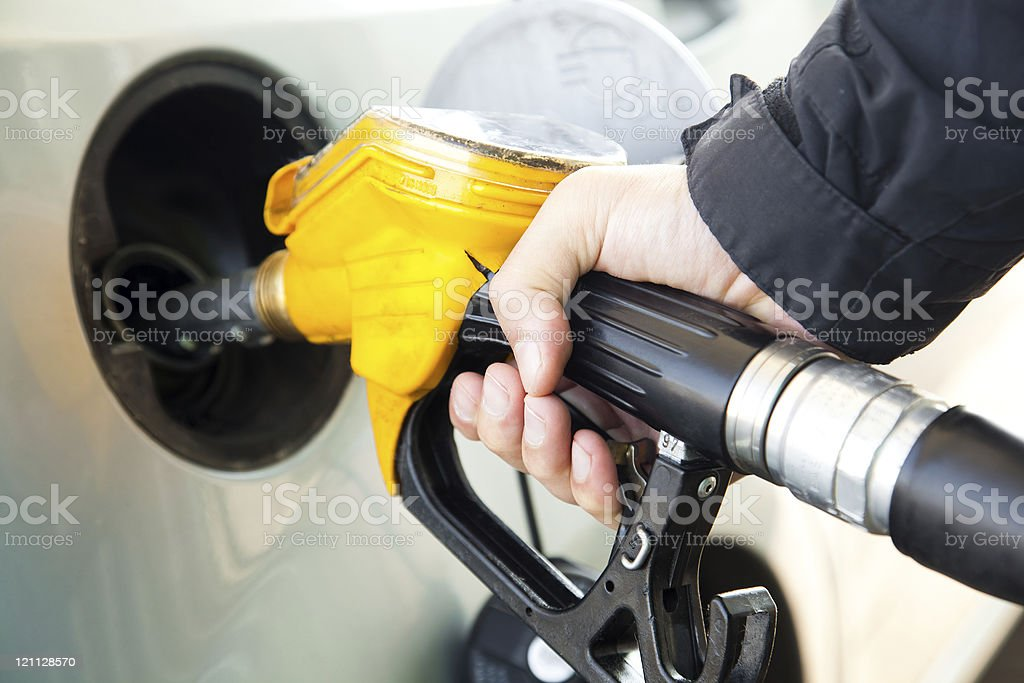 Gas and gasoline getting more expensive royalty-free stock photo