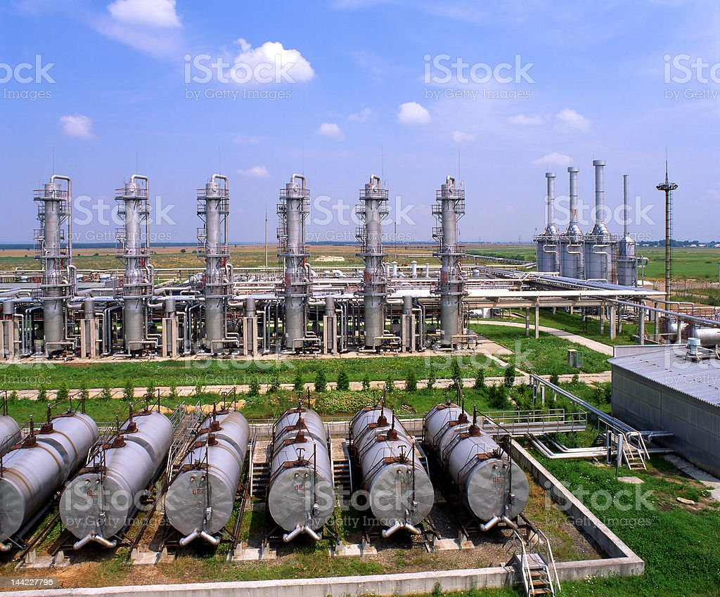 Gas and oil industry stock photo