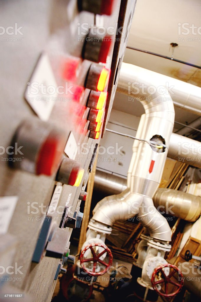 Gas and oil industry systems royalty-free stock photo