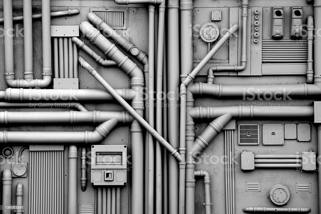 Gas and Oil Pipes Background stock photo
