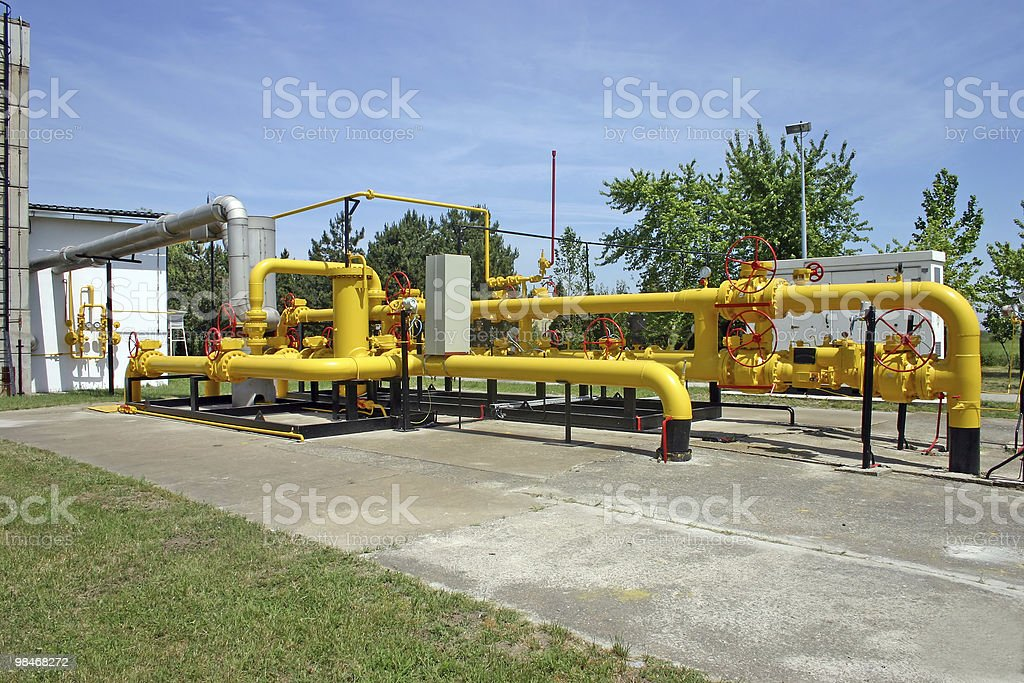 Gas and oil pipes royalty-free stock photo