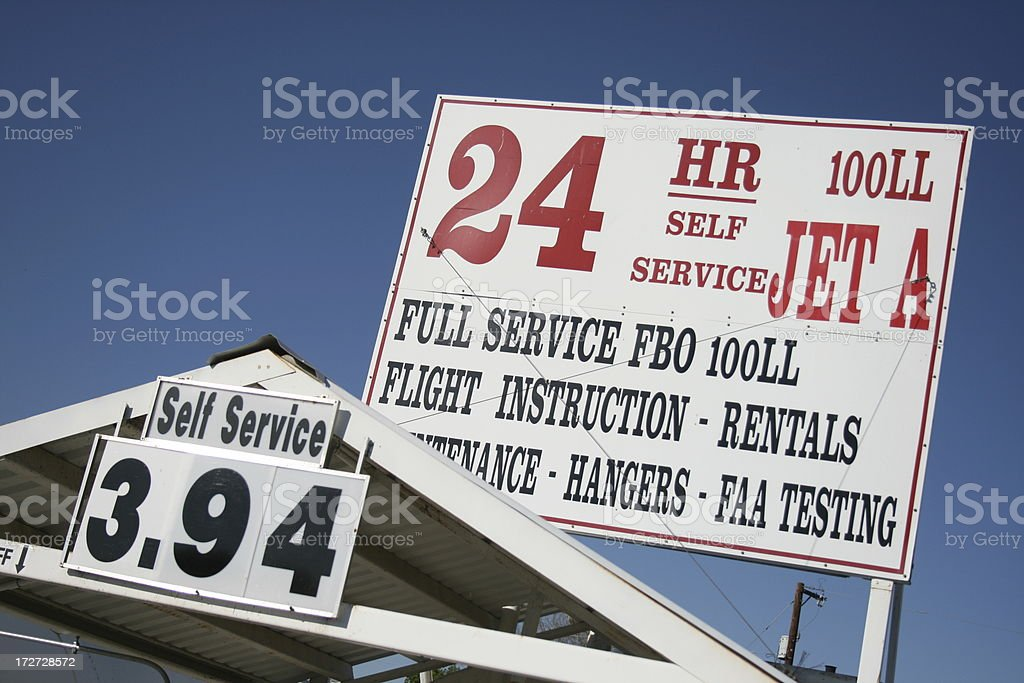 Gas at Airport royalty-free stock photo