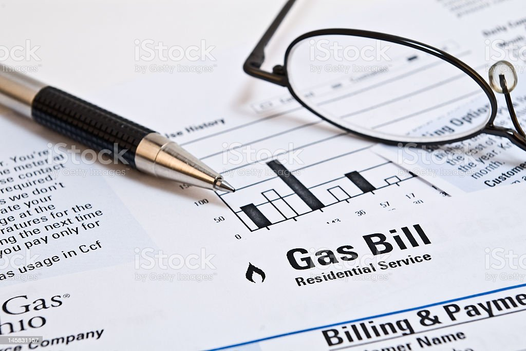 Gas Bill stock photo
