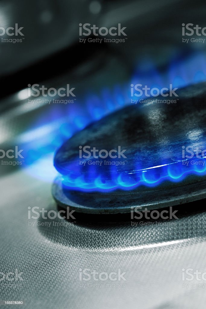 Gas, blue flame royalty-free stock photo