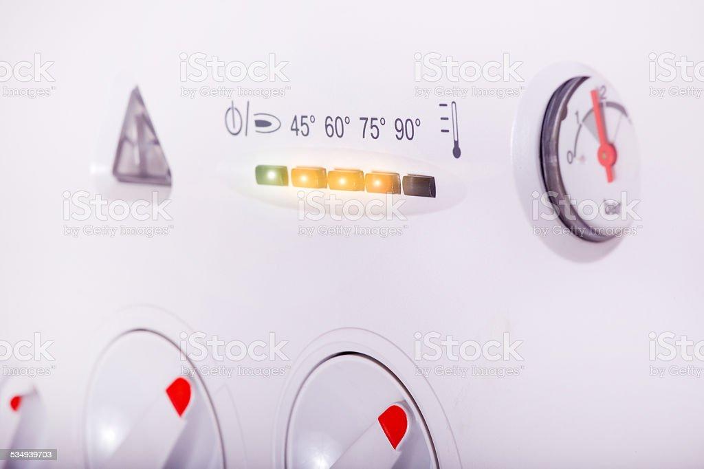 Gas boiler stock photo