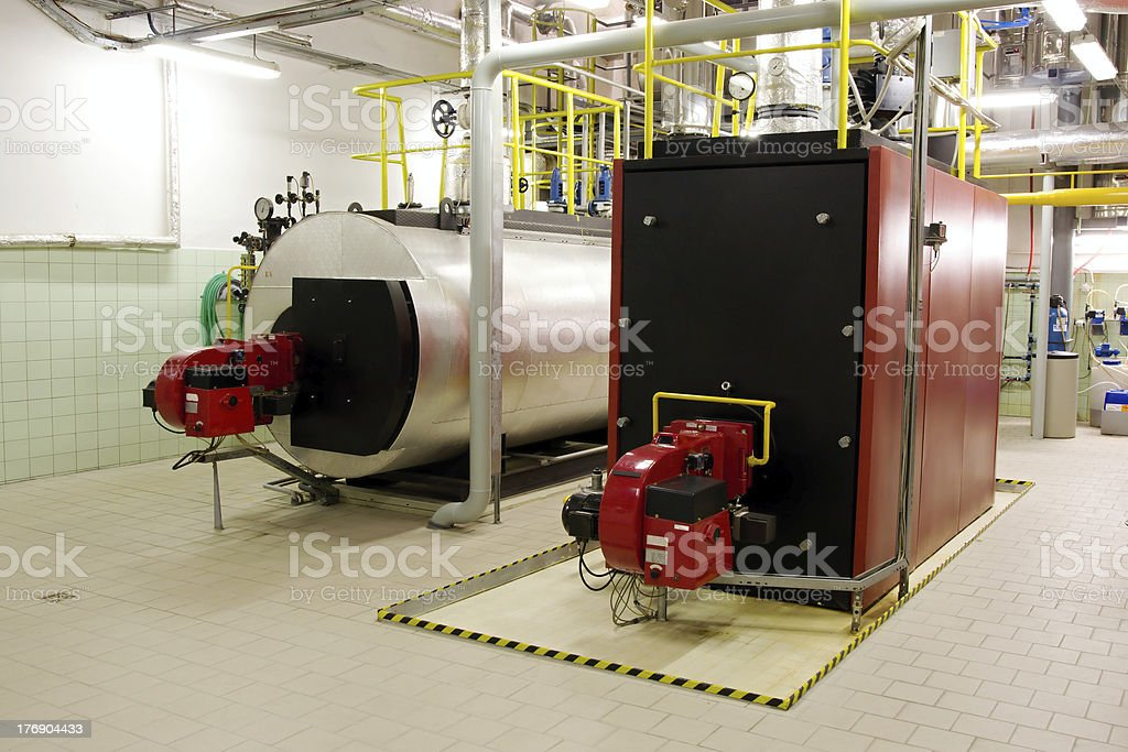 Gas boilers royalty-free stock photo
