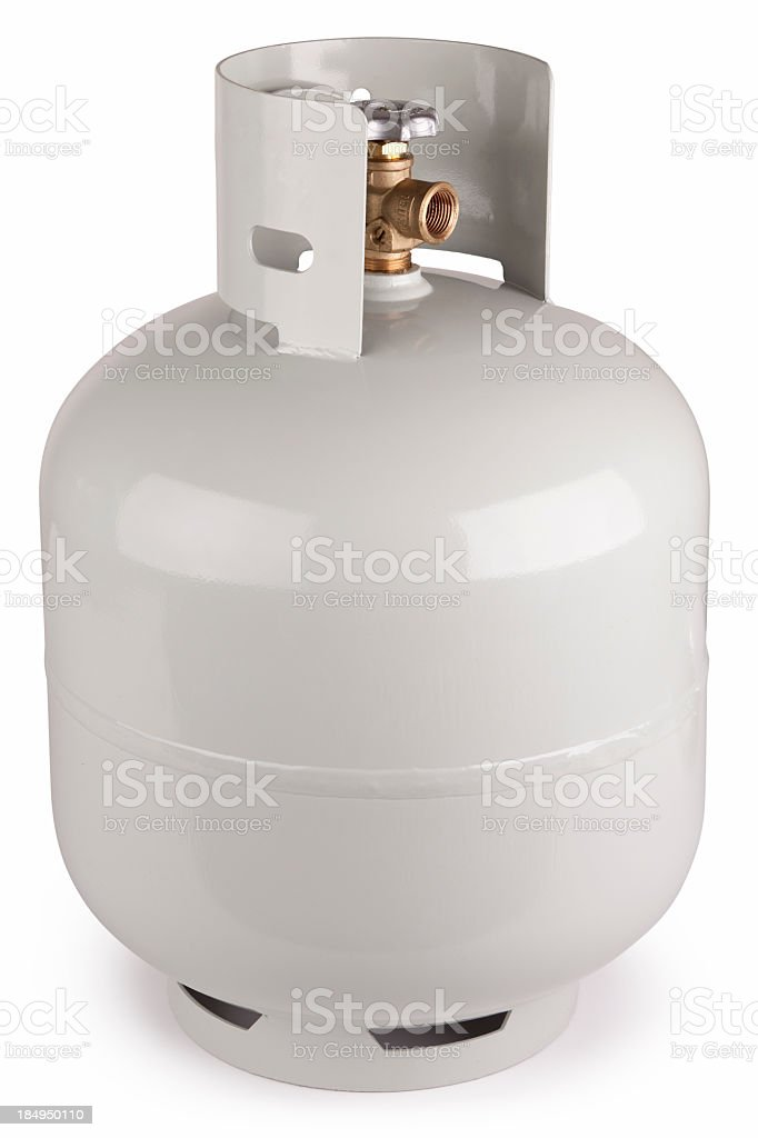 LPG Gas Bottle + Clipping Path stock photo