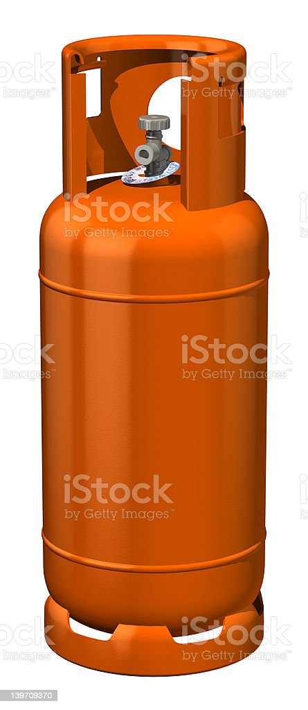 Gas Bottle royalty-free stock photo