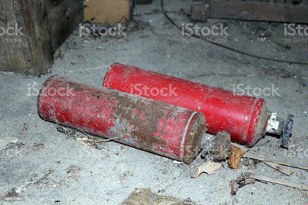gas bottle stock photo