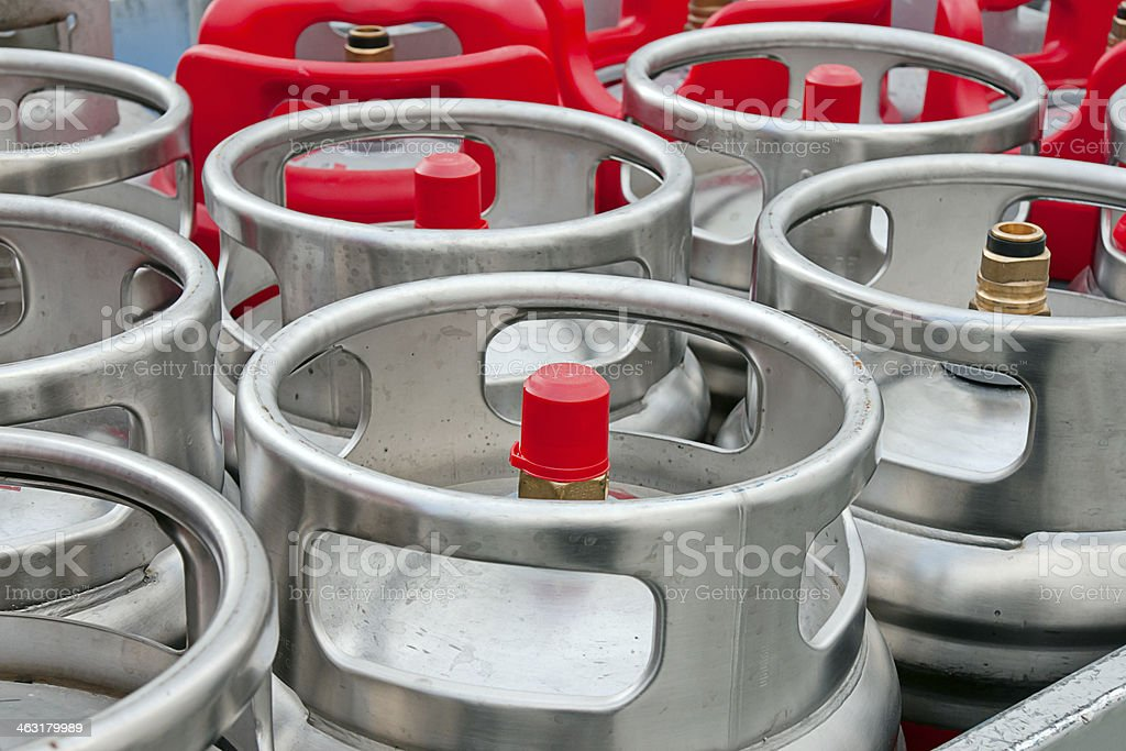 Gas Bottles royalty-free stock photo