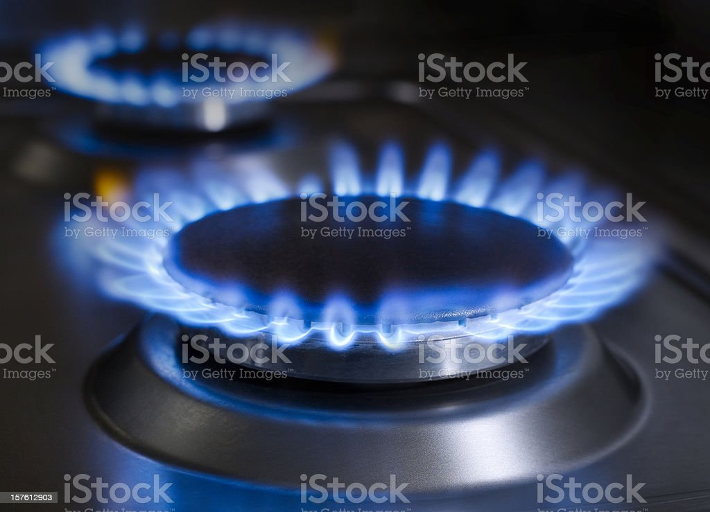 gas burner stock photo