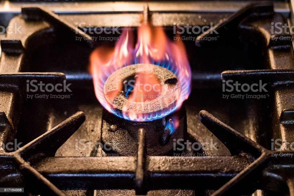 Gas burner stove stock photo