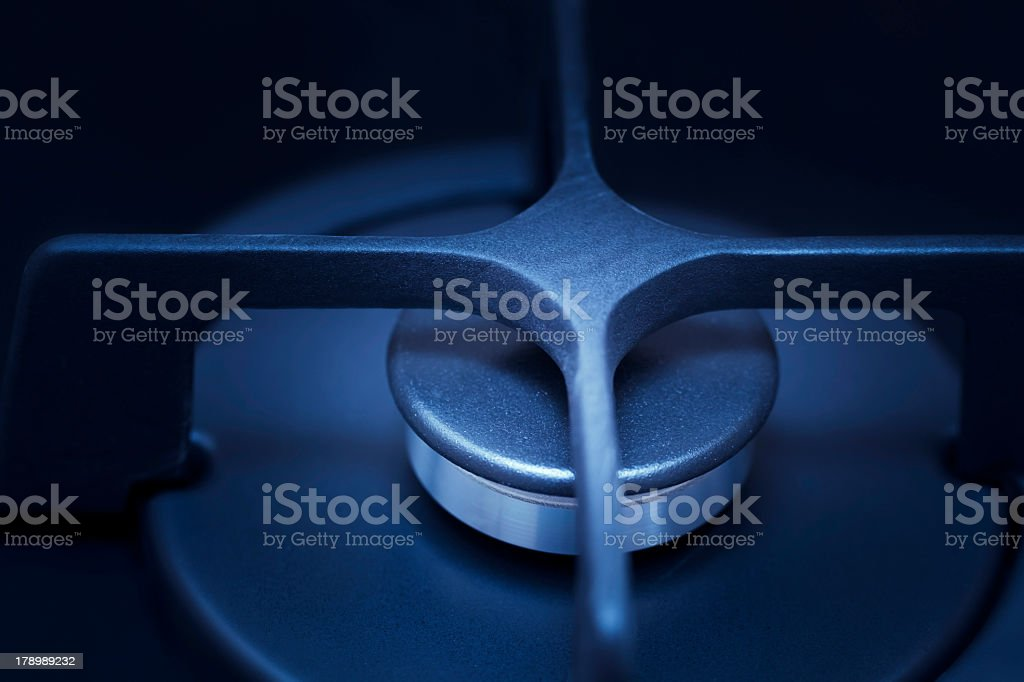 gas burner turned off royalty-free stock photo