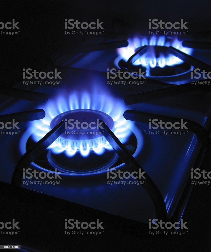 Gas Burners royalty-free stock photo