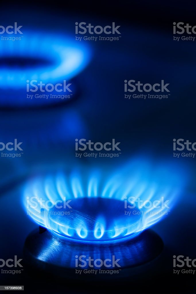 Gas burning is like fire in our hearts royalty-free stock photo
