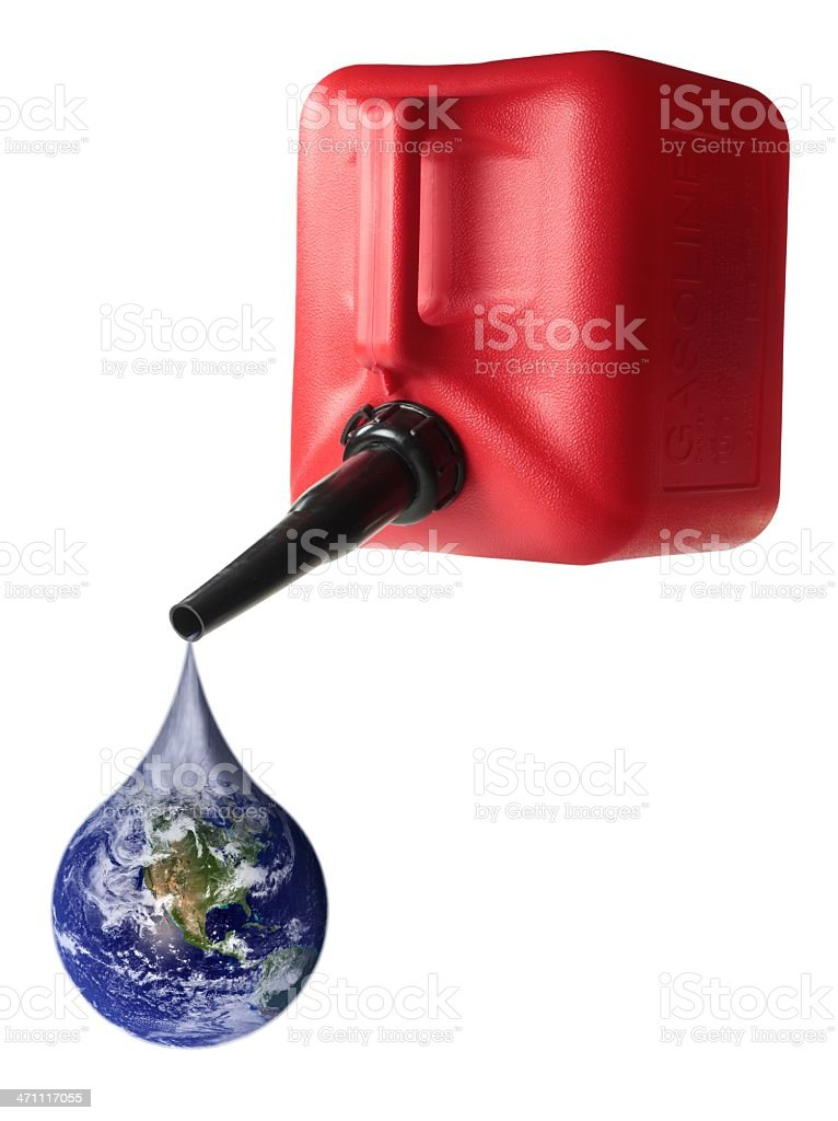 Gas Can Earth Drip royalty-free stock photo