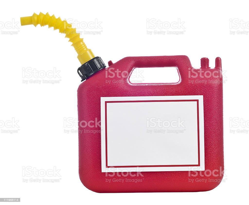 Gas Can With Blank Sign royalty-free stock photo