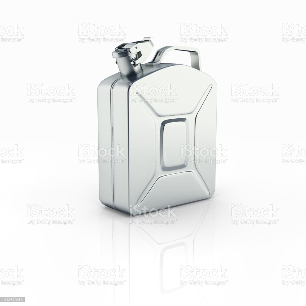 Gas canister isolated on white background with reflection 3d stock photo