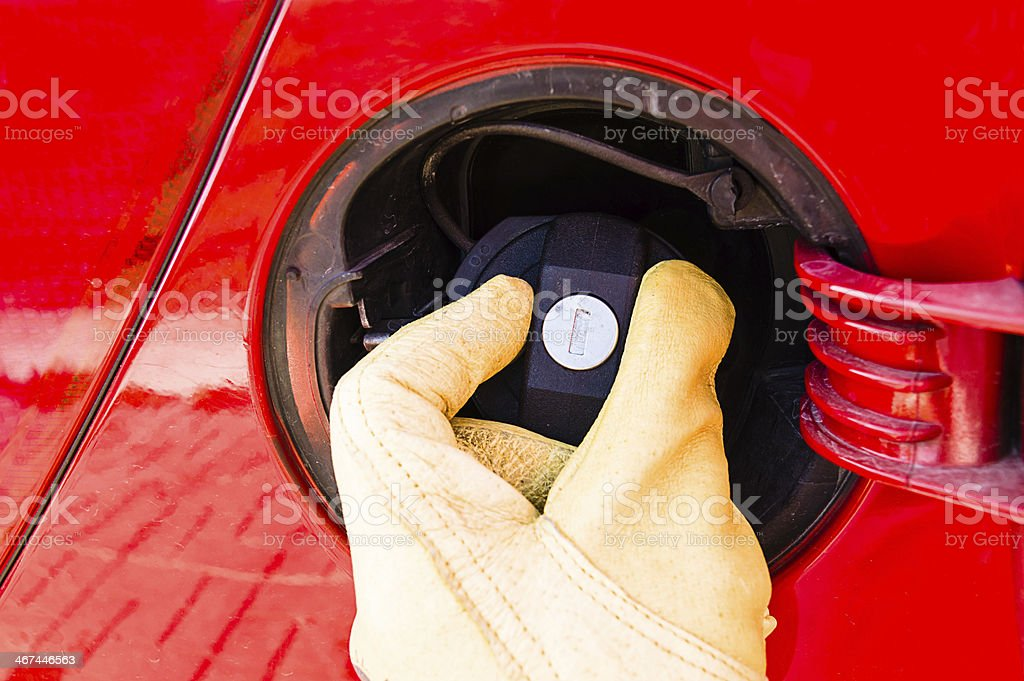 gas cap royalty-free stock photo
