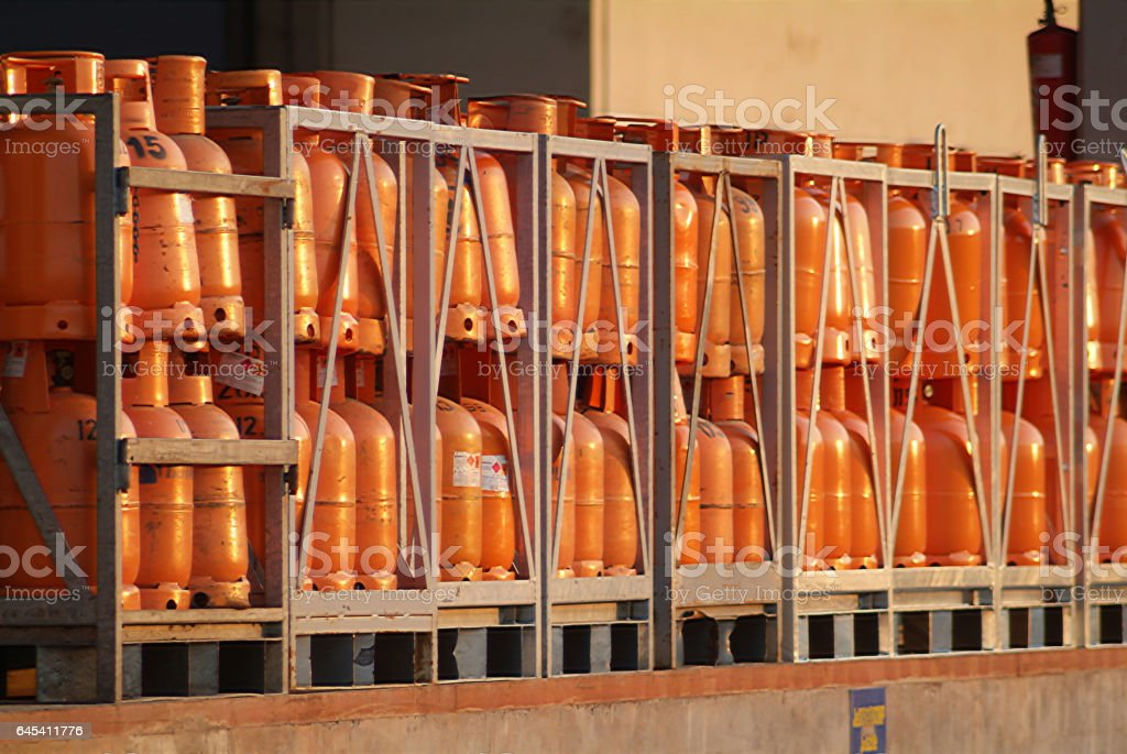 gas containers stock photo