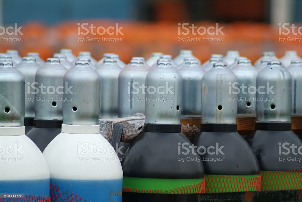 gas containers2 stock photo