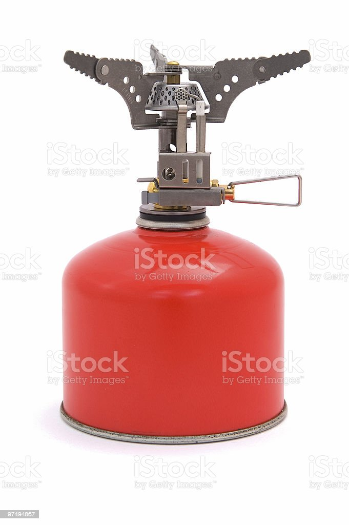 Gas cooker with bottle stock photo