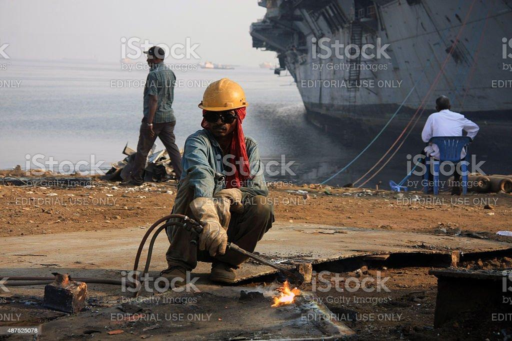 Gas Cutter 03 stock photo