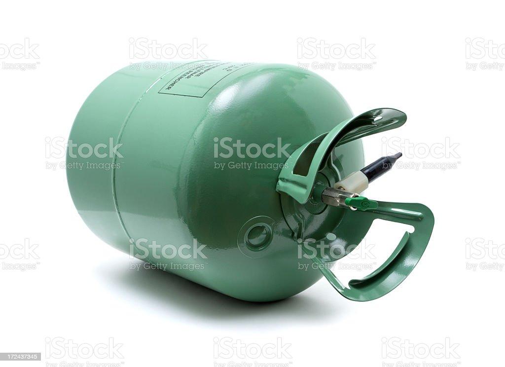 Gas cylinder isolated isolated on white background stock photo