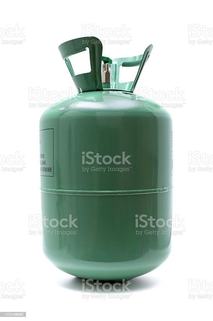 Gas cylinder isolated on white background stock photo