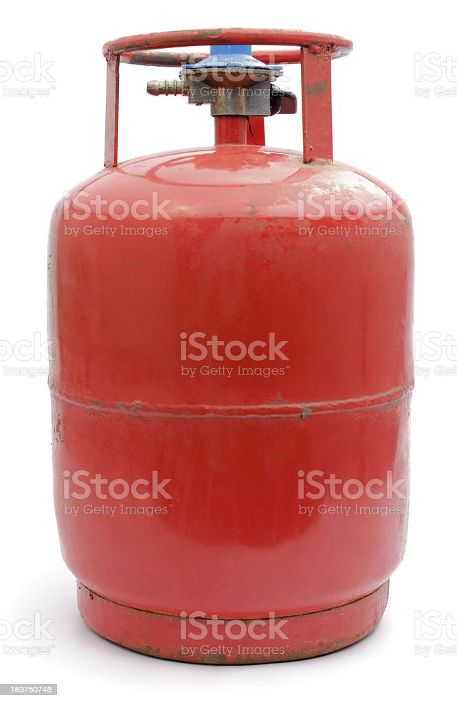 LPG gas cylinder stock photo