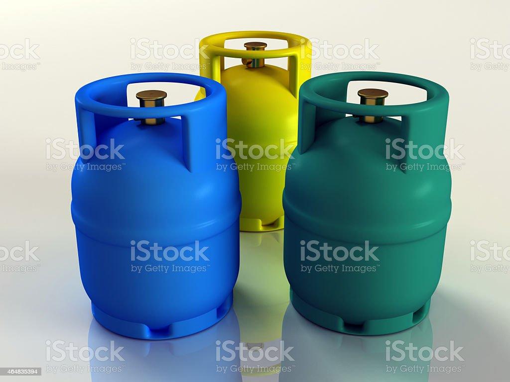 Gas Cylinder Tanks stock photo