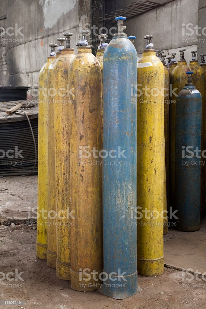 Gas cylinders royalty-free stock photo