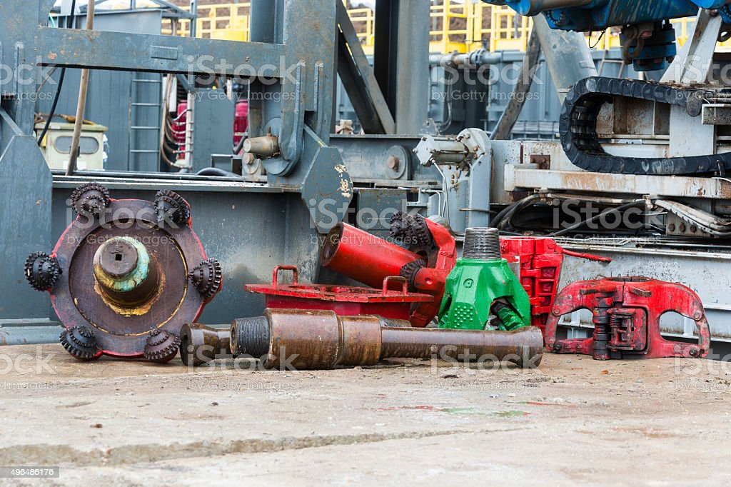 Gas drilling head stock photo