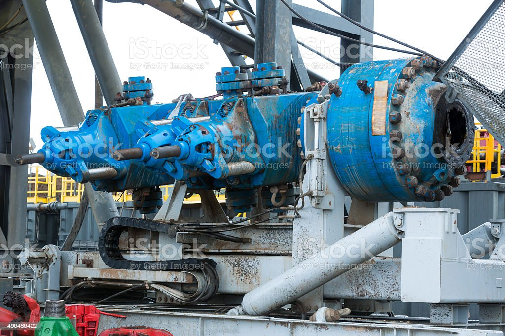 Gas drilling machine mechanism stock photo