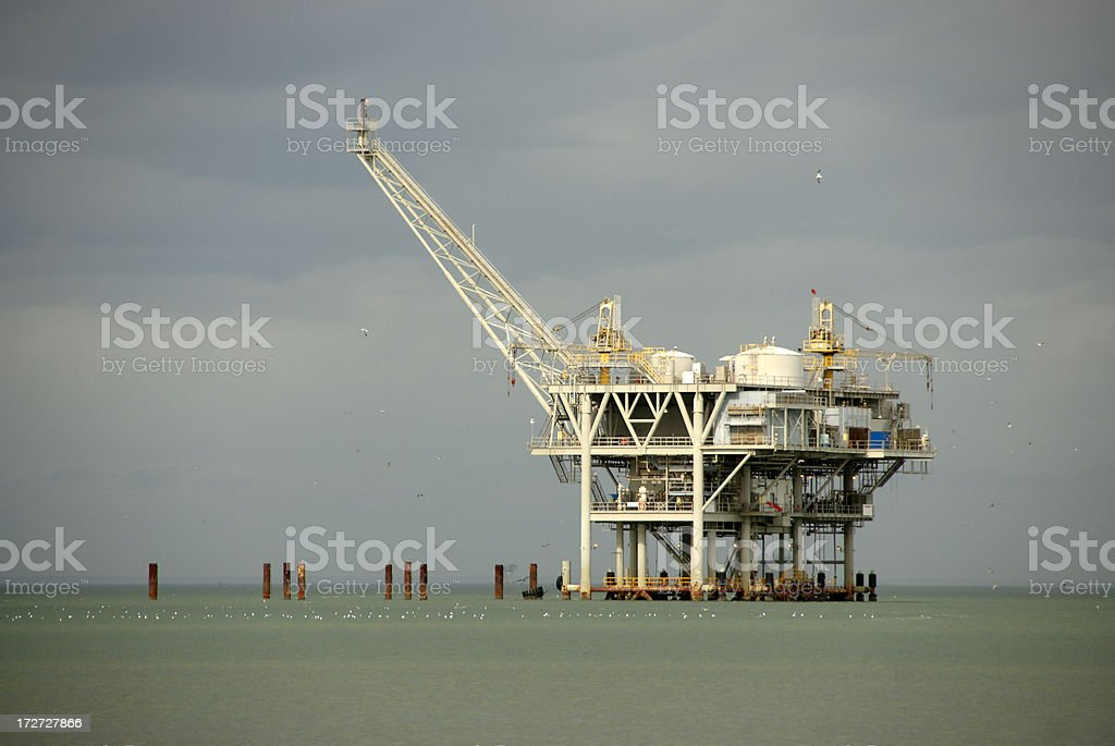 Gas Drilling Rig stock photo