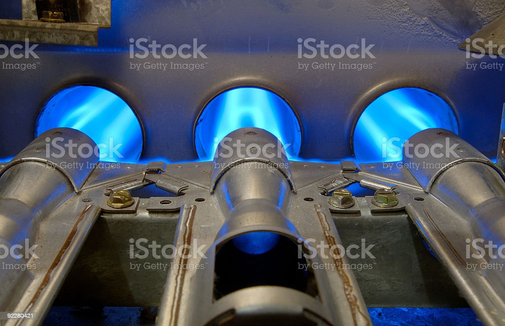 Gas Energy Flames stock photo
