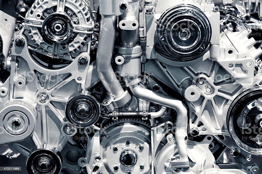 Gas Engine Closeup stock photo