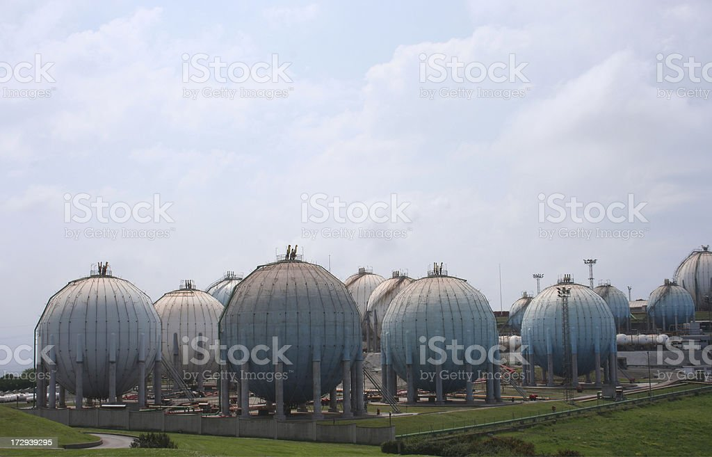 Gas Factory royalty-free stock photo