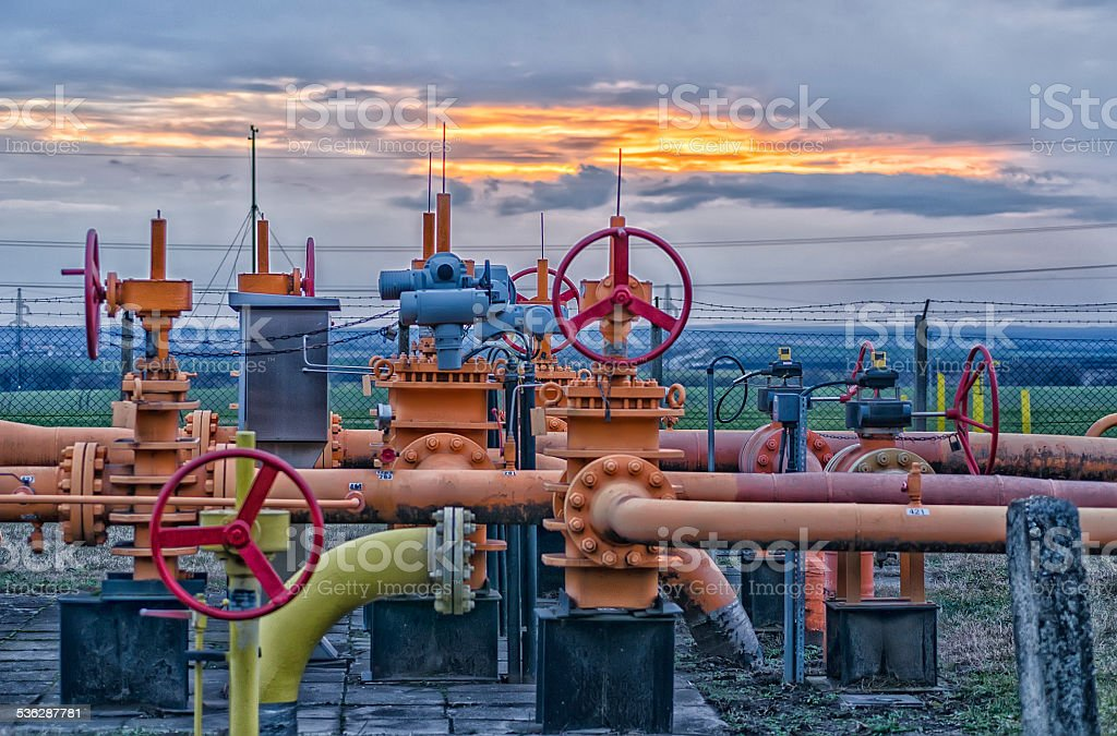 Gas field stock photo