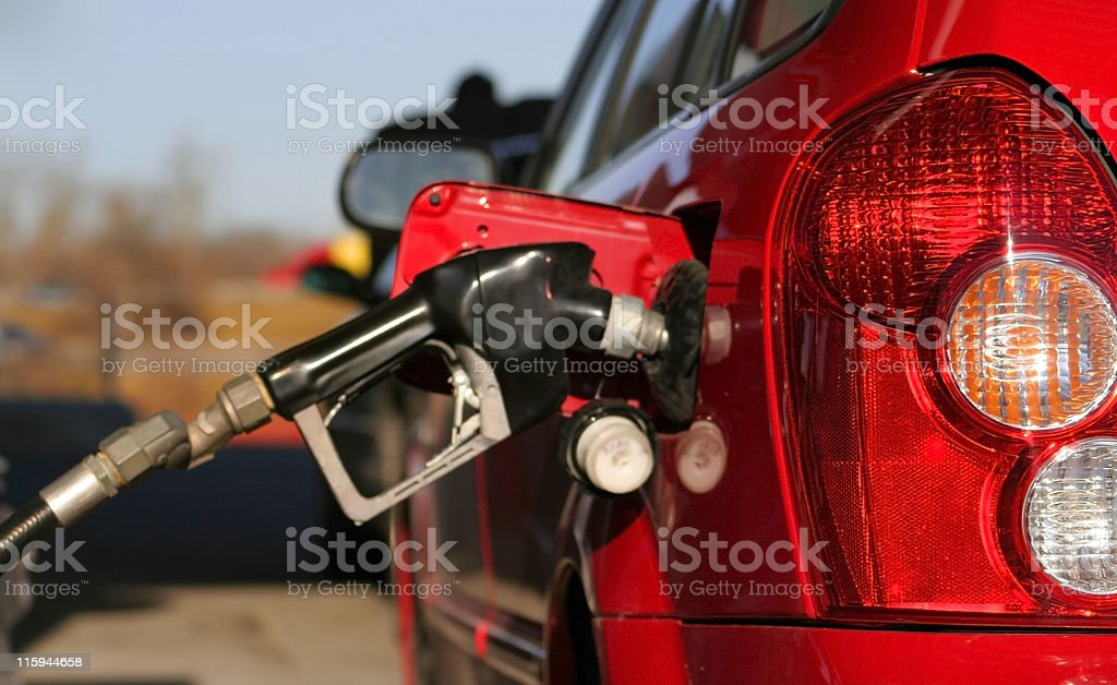 gas filling up royalty-free stock photo
