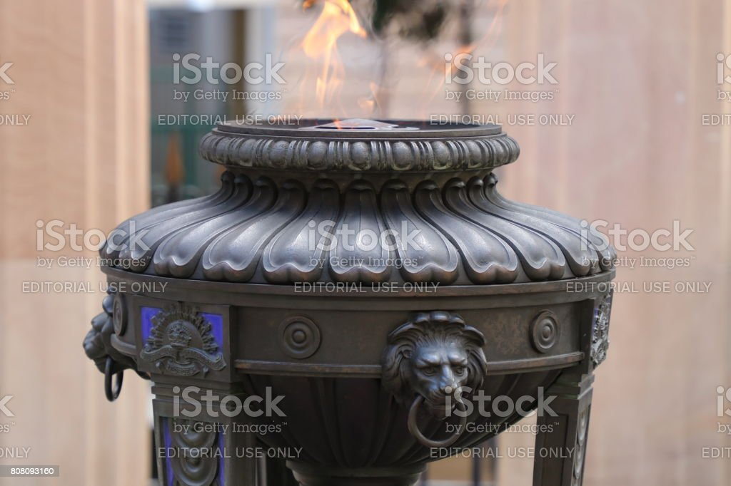 Gas fire burning stock photo